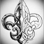Stein Lilie tattoomotiv knoten