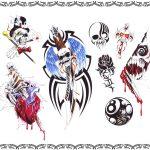 Tattooflash newschool Skulls , eightball, herz