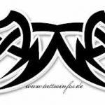 Tribal Tattoo kopf Tattoovorlage