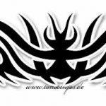 Tribal Tattoo teufel Tattoovorlage