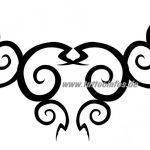 Tribal Tattoo curly intim Tattoovorlage