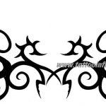 Tribal Tattoo bogen Tattoovorlage