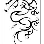 Tribal drachen tattoomotiv