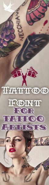 banner Tattoofonts  seite 160×600